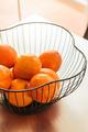 House decoration details oranges basket