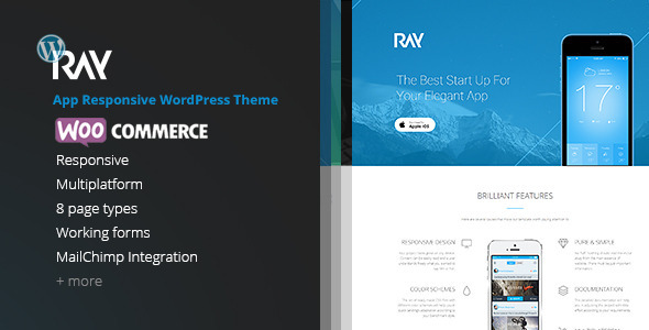 Ray – App Responsive WordPress Theme