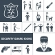 Security Guard Black Icons Set