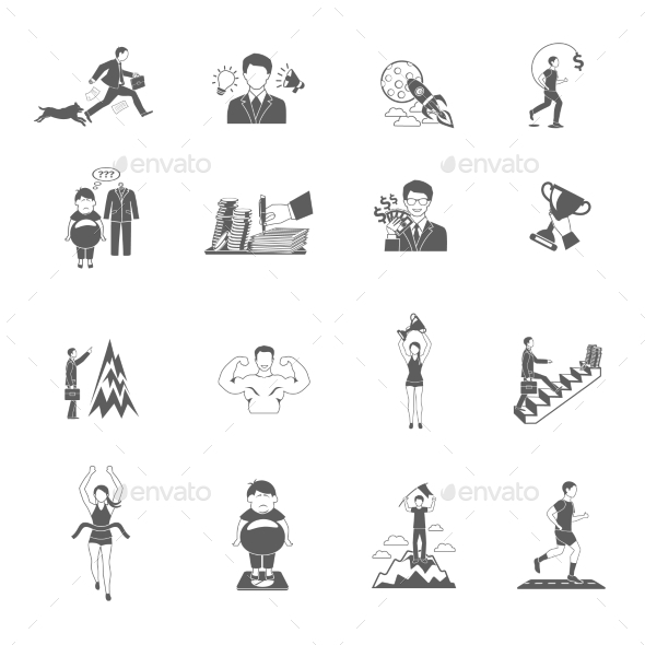 Motivation Icons Set - Miscellaneous Icons