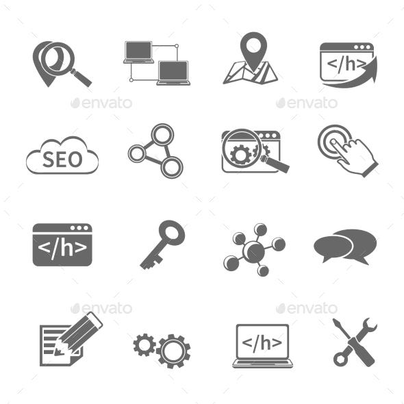 Seo Marketing Icons Set - Software Icons