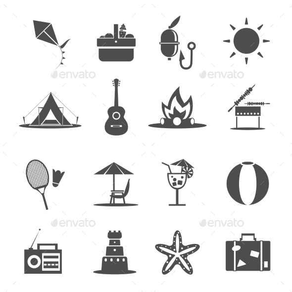 Summer Icon Black - Objects Icons