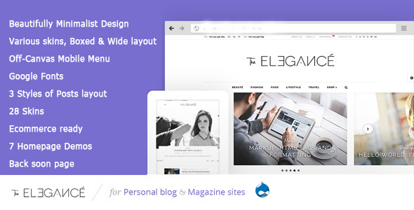 Elegance - A Flawlessly Minimalist Blogging theme - Fashion Retail