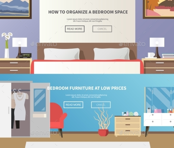 Bedroom Furniture Banner - Miscellaneous Vectors