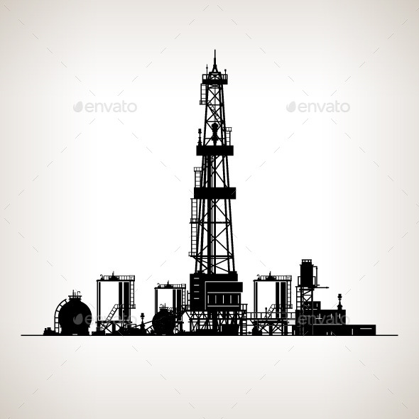 Silhouette Drilling Rig - Industries Business