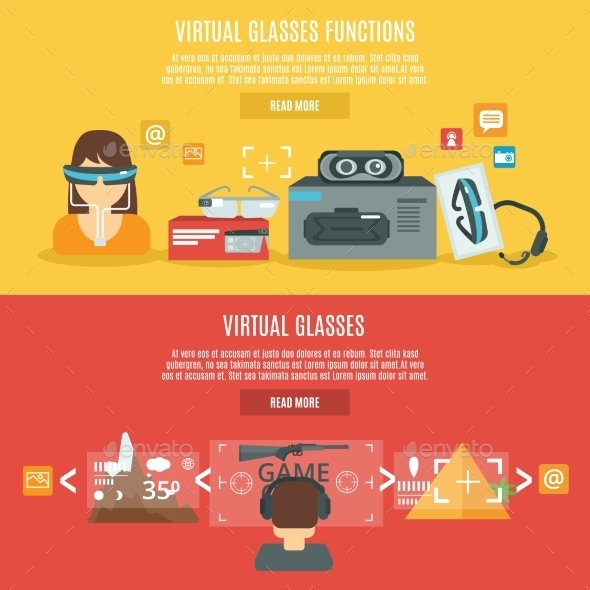 Virtual Glasses Banner - Computers Technology