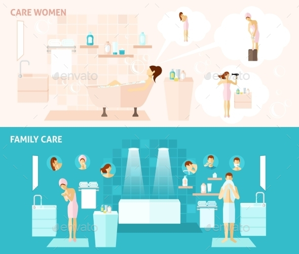 Family and Woman Care Banner - Health/Medicine Conceptual