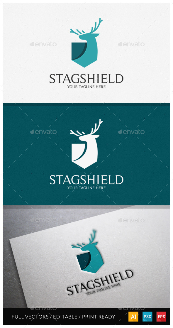 Stagshield Logo Template - Animals Logo Templates