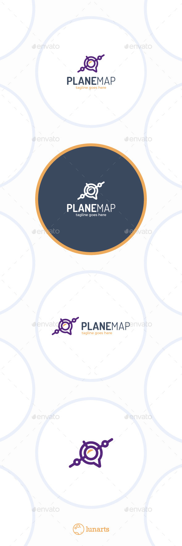 Plane Map Logo - Location - Symbols Logo Templates