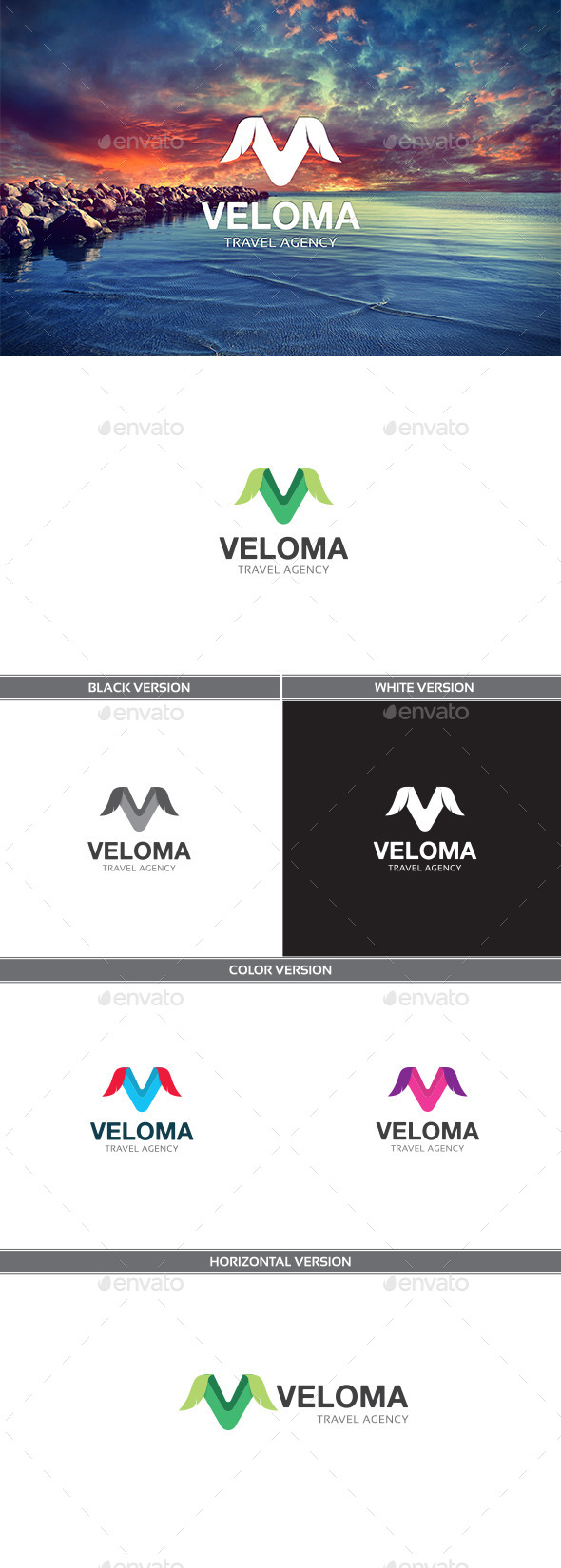 Veloma - Letters Logo Templates