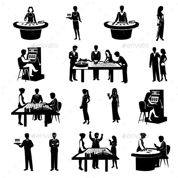 People in Casino Black - Miscellaneous Vectors