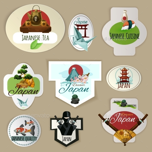 Japan Emblems Set - Miscellaneous Vectors