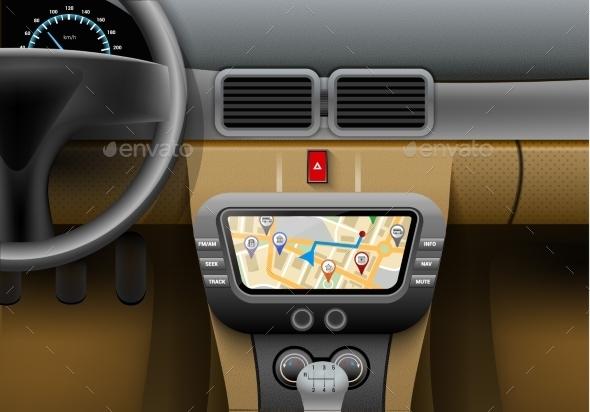 Car Navigation System - Miscellaneous Vectors