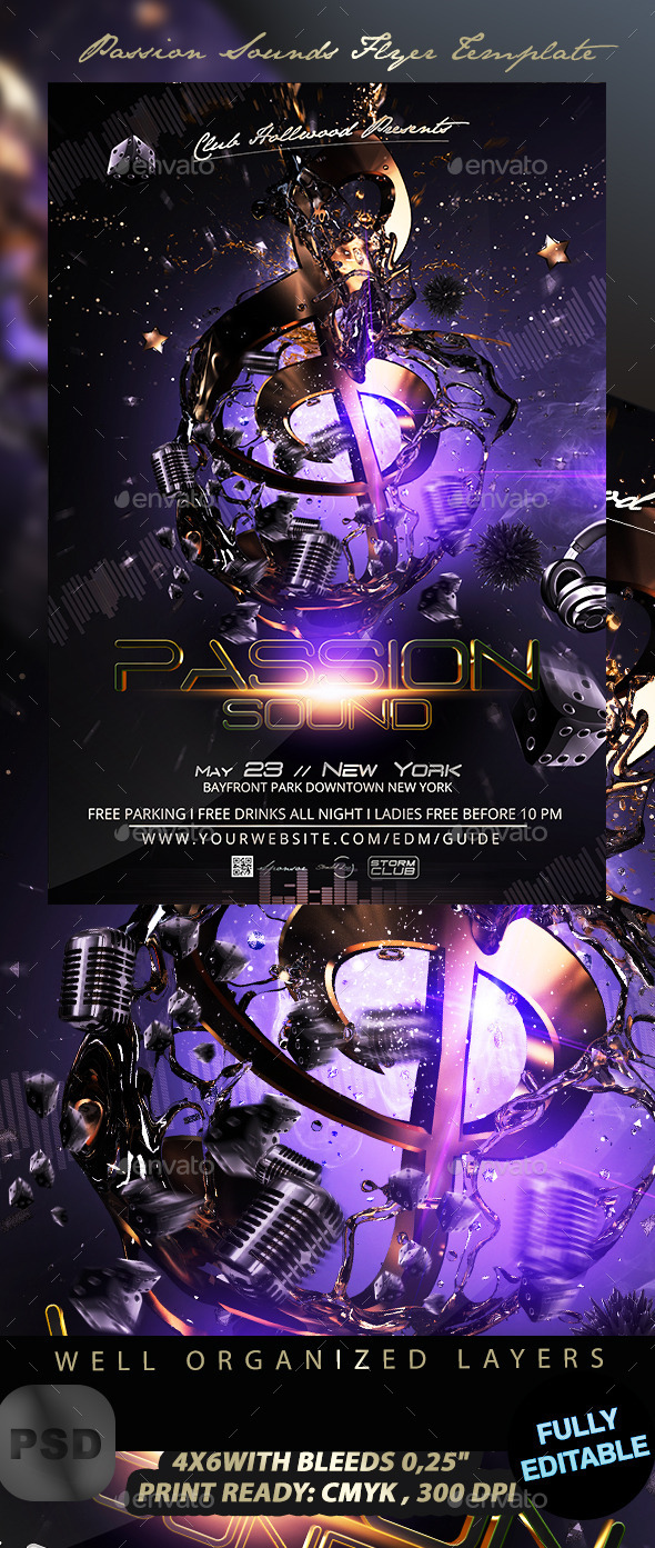 Passion Sounds Flyer Template - Events Flyers