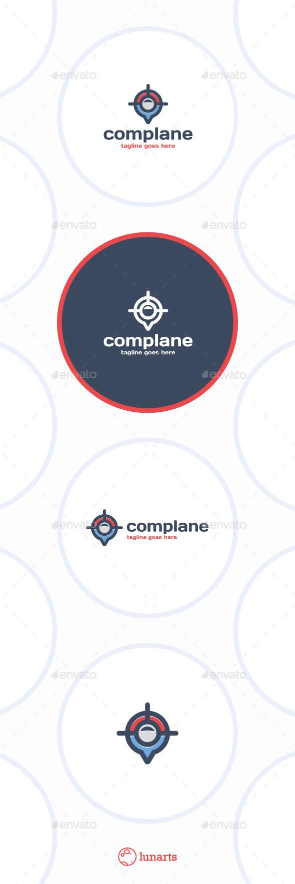 Compass Plane Logo - Navigate - Symbols Logo Templates