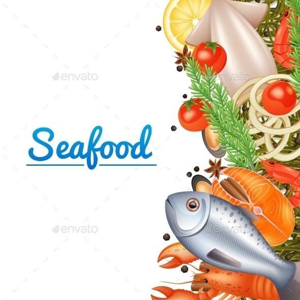 Seafood Menu Background - Food Objects