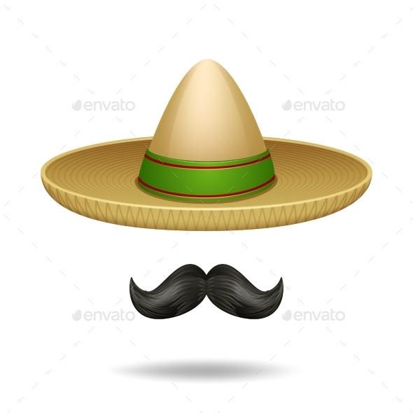 Sombrero and Mustache - Miscellaneous Vectors