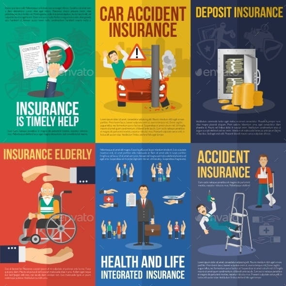 Insurance Poster Set - Business Conceptual