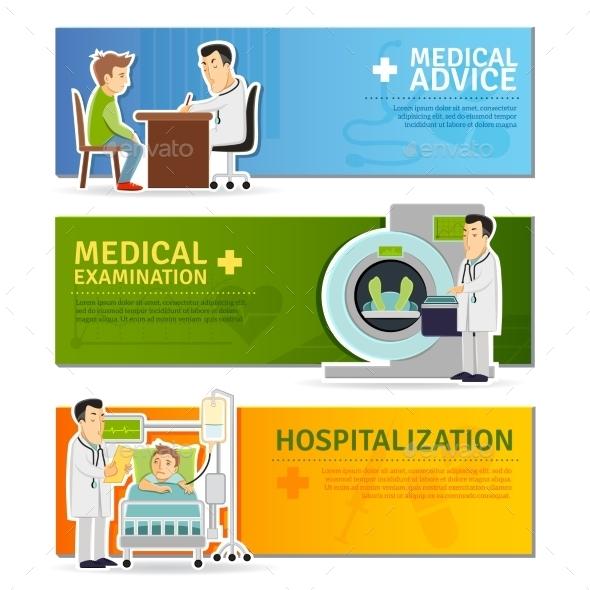 Medical Banners Set - Health/Medicine Conceptual