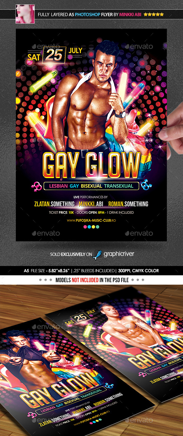 Gay Glow Poster/Flyer - Events Flyers