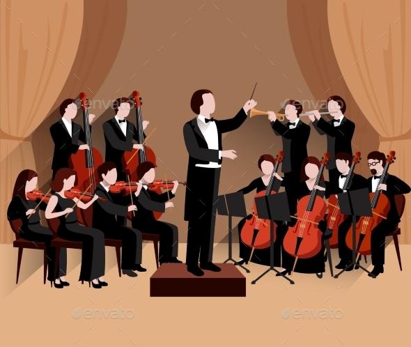 Symphonic Orchestra Flat - Miscellaneous Vectors