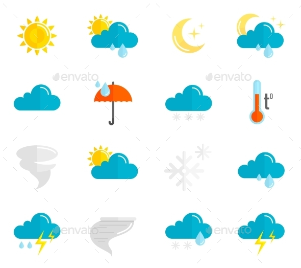 Weather Icons Flat Set - Miscellaneous Icons