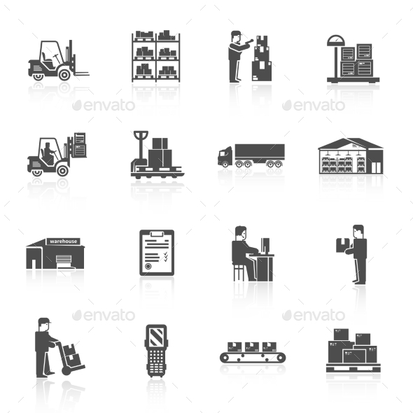 Warehouse Icons Set - Miscellaneous Icons