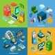 Isometric Banking Set - GraphicRiver Item for Sale