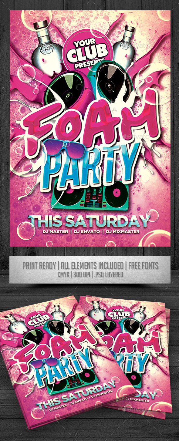 Foam Party Flyer - Events Flyers