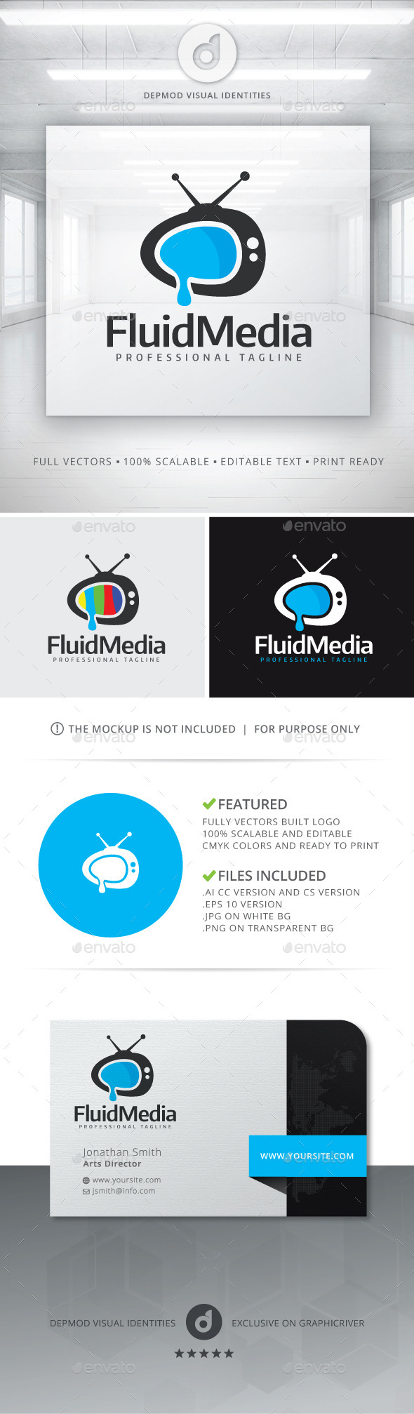 Fluid Media Logo - Objects Logo Templates