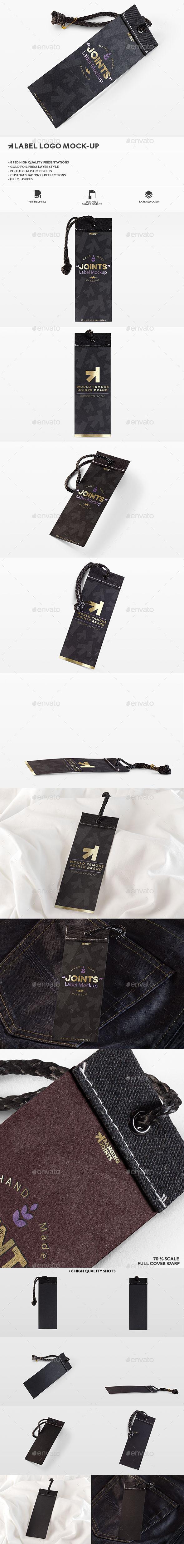 Label Logo Photorealistic Mockup - Logo Product Mock-Ups
