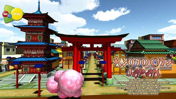 Kyoto City Japan Asset Pack - 3DOcean Item for Sale
