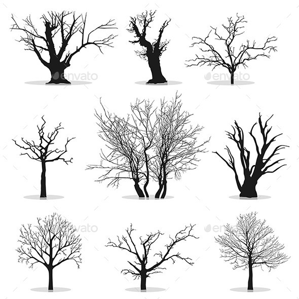 Collection of Trees - Organic Objects Objects