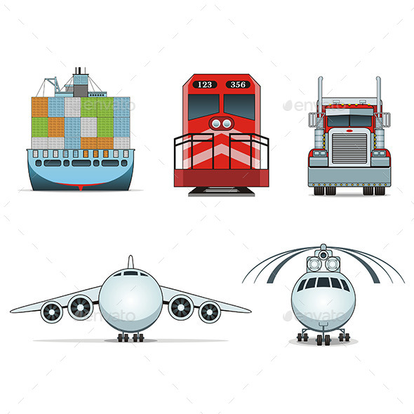 Logistic Icons - Man-made Objects Objects