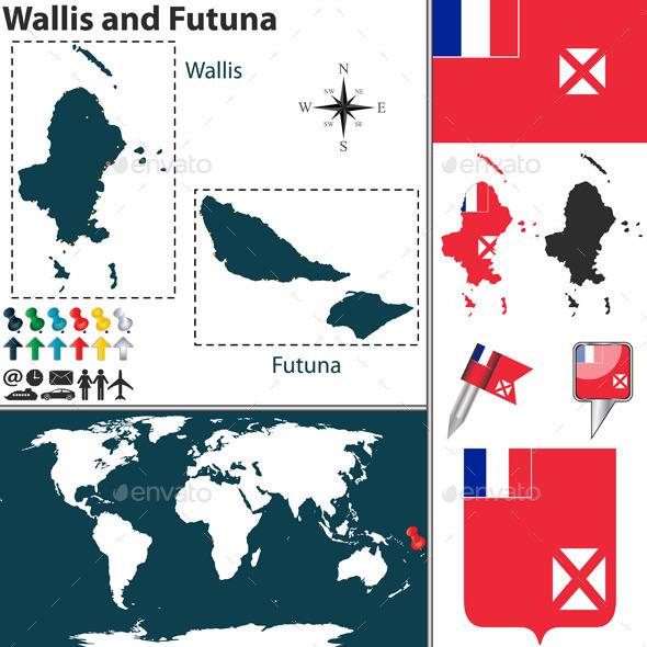 Map of Wallis and Futuna - Travel Conceptual