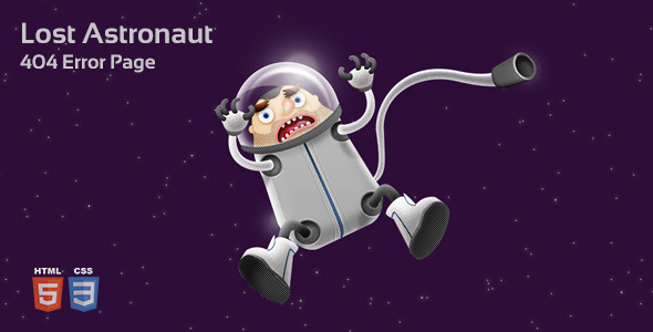 Lost Astronaut 404 Page - 404 Pages Specialty Pages