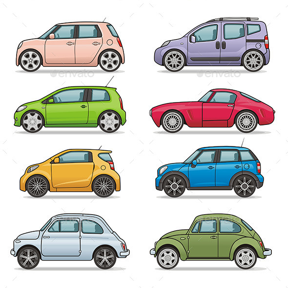 Car Icons - Man-made Objects Objects