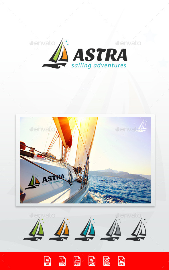 Astra Sailing Adventures Logo Template - Objects Logo Templates
