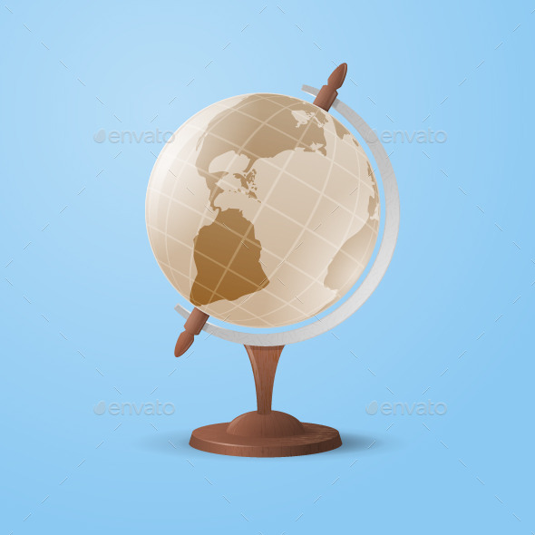 Vintage Globe - Man-made Objects Objects