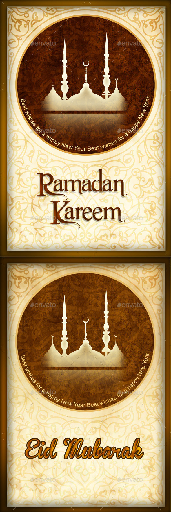 Eid Mubarak / Ramadan Mubarak - Backgrounds Graphics
