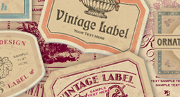 vintage labels sets (vector)
