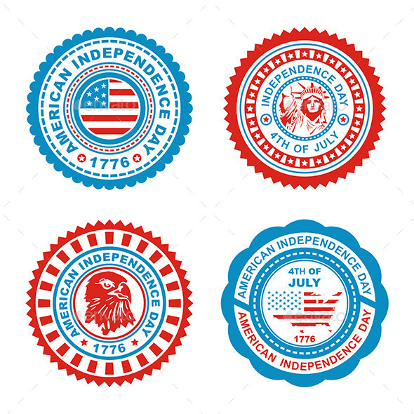 Independence Day Stamp - Decorative Symbols Decorative