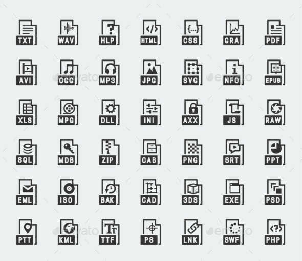File Format Vector Icons - Icons