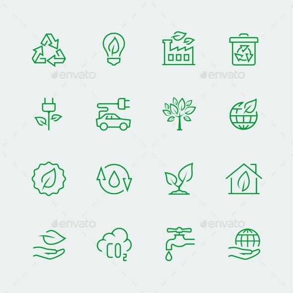 Vector Ecological Icon Set - Icons