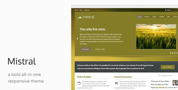Mistral - Responsive Joomla Template