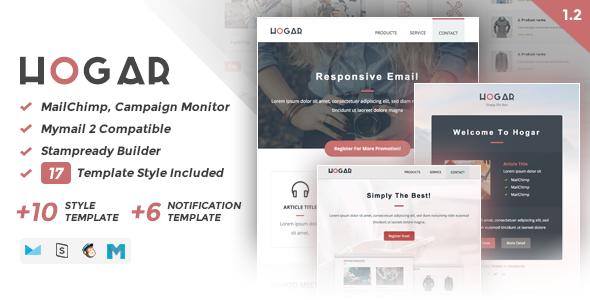 Hogar | Responsive Email Set