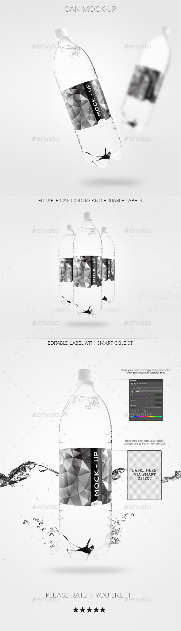 Water Bottle Mock Up - Food and Drink Packaging