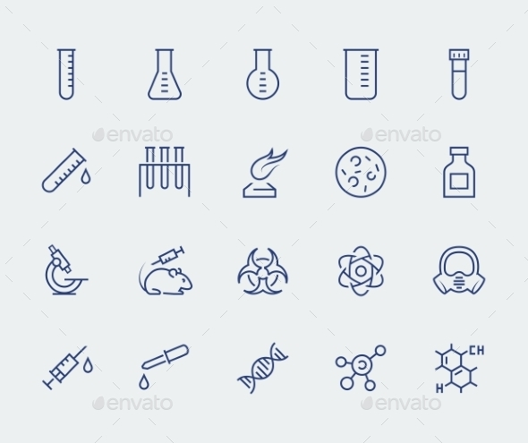 Vector Icon Set Of Science And Research - Icons