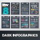 Dark Infographic Brochure Vector Elements Kit 8 - GraphicRiver Item for Sale