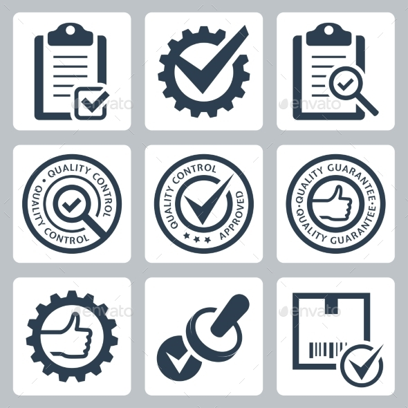Quality Control Related Vector Icon Set - Icons
